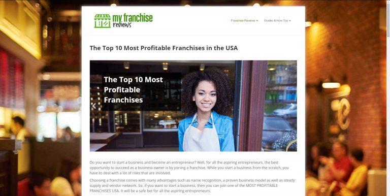 MyFranchiseReviews.com screenshot
